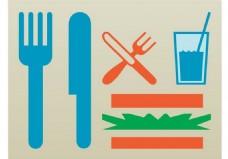 餐具矢量素材