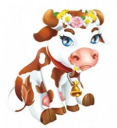 可爱奶牛png免扣元素