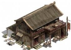 古代饭店模型元素