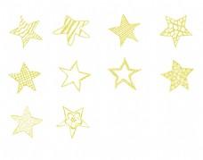 童趣手绘星星图案呆萌五角星