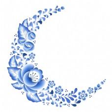 青花瓷花饰