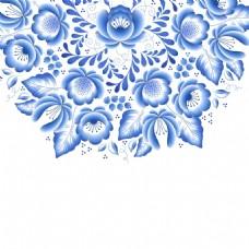富贵吉祥青花瓷中国风典雅花型设计