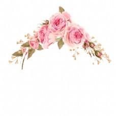 粉色玫瑰花png免扣元素