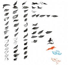 翅膀大全(翅膀矢量图)