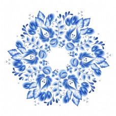 花型青花瓷中国风
