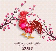 卡通红色中国传统春节剪纸矢量素材
