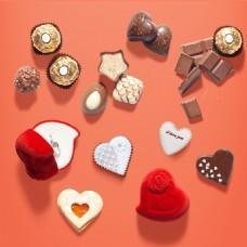 七夕情人节巧克力元素