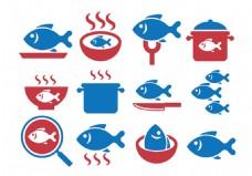 鱼类美食矢量素材