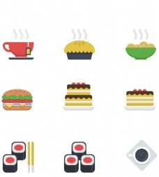 热腾腾食物小图标