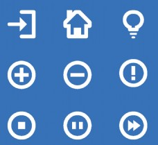 圆形按钮简单图标