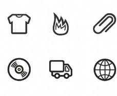 衣服线条图标