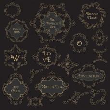 符号花纹边框装饰图案