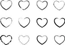 无花纹爱心边框矢量素材