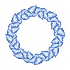 树叶圆环中国风典雅花型设计