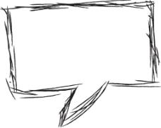 手绘线条对话框元素