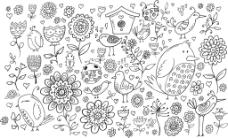鸟屋矢量插画设计装饰素材