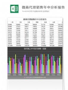 微商代理营销分析报告excel表格模板