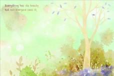 森林水彩画