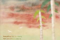 树木水彩插画