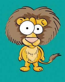 狮子达巴卡通动物