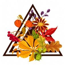 美丽的秋天的叶子插画