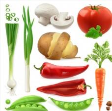 多种果蔬食品矢量素材
