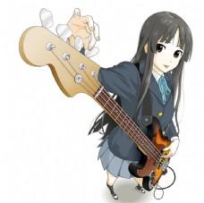 图片 弹吉他的卡通美女