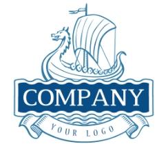 龙头船航海蓝色