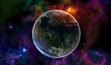 星空地球科技背景