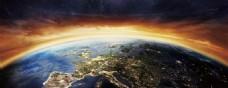 地球房地产背景科技蓝色科技