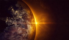 金色光科技地球背景