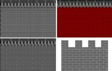 矢量青砖墙
