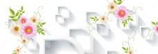 唯美花朵banner背景