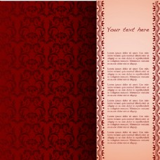 卡片中国民族风红色矢量背景底纹