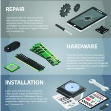 光盘扁平化高新科技产品宣传