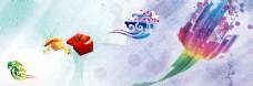 科技彩色物品banner背景