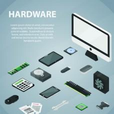 计算器扁平化高新科技产品宣传