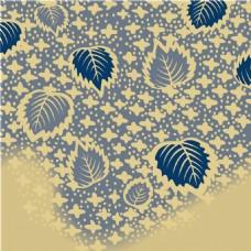 蓝色树叶蝴蝶纹背景图