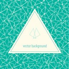 可爱三角形下线条背景矢量素材