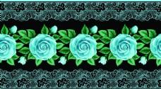 蓝色花边玫瑰花蕾丝矢量背景
