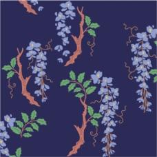 紫色花枝背景图