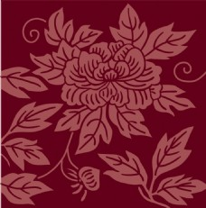 红色花朵背景图