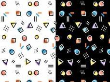可爱几何图案背景