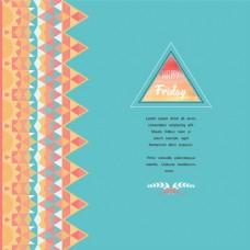 三角形蓝色几何时尚矢量背景