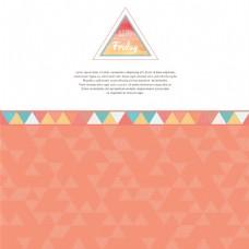 橙色卡通三角形背景矢量素材