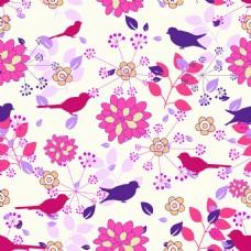 彩色手绘花朵背景矢量素材