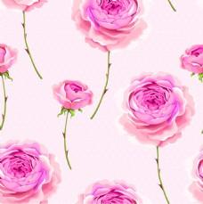 唯美花朵纹理图案矢量背景