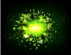 绿色不规则碎片背景素材