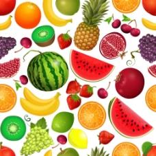 美味水果背景底纹