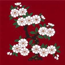 红色梅花枝背景图